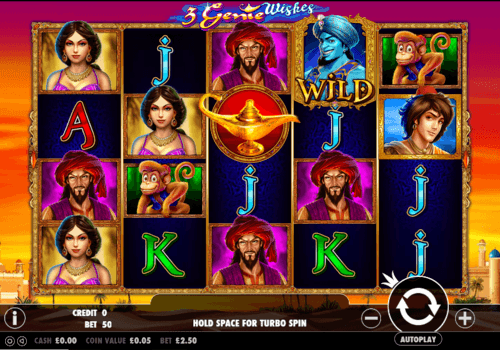 3 Genie Wishes uk slot