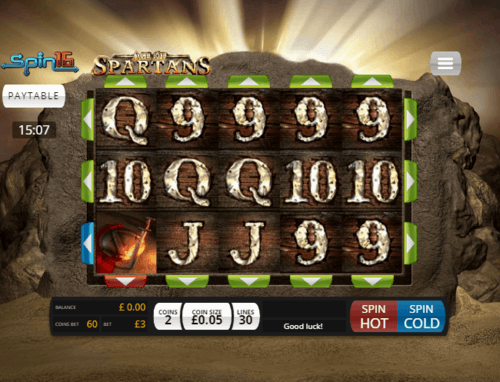 Age of Spartans Spin16 UK online slot game