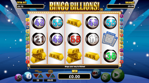 Bingo Billions UK online slot game