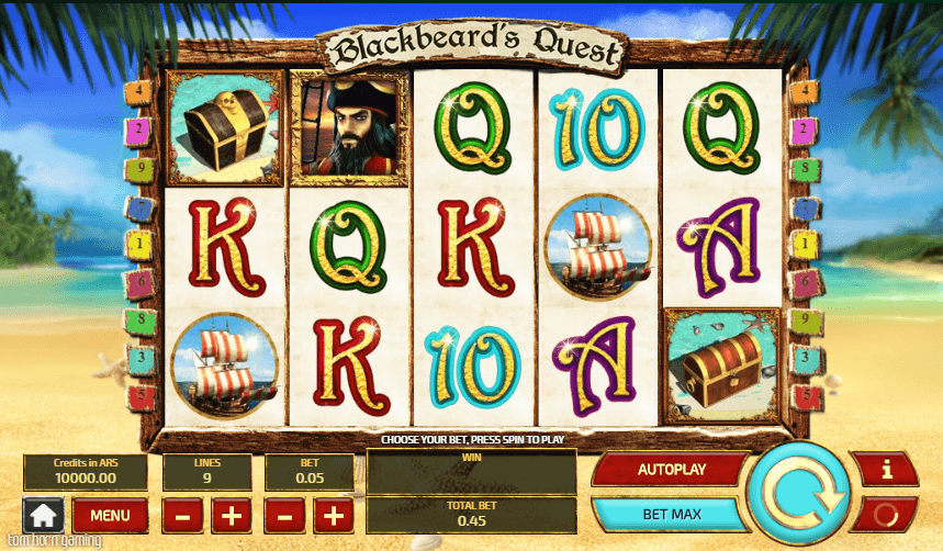 Blackbeard's Quest UK online slot game