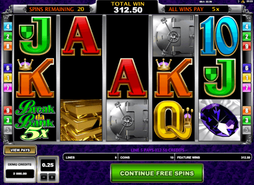 Break Da Bank Again UK slot game