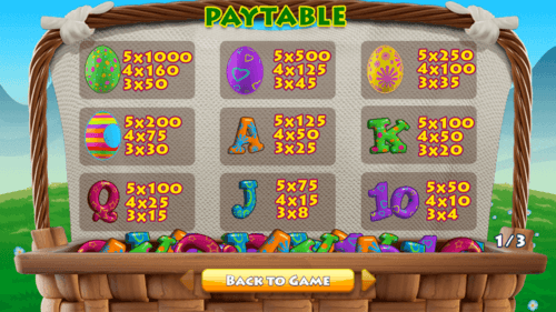 Easter Cash Basket Slot