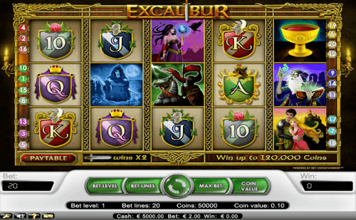Excalibur UK online slot game
