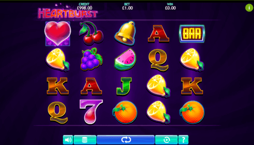 Heartburst UK online slot game