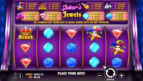 Joker's Jewels slot game