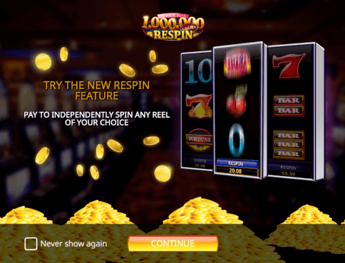 Million Coins Respin online slot game