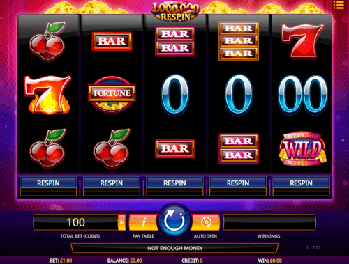 Million Coins Respin uk slot game