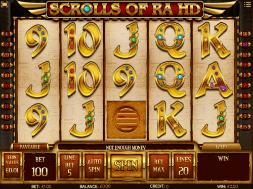 Scrolls of Ra uk slot game
