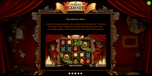 The Curious Cabinet online slot game