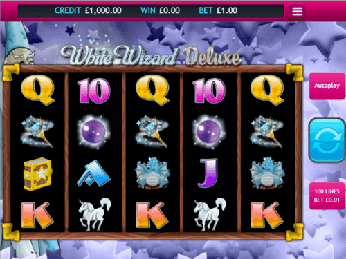 White Wizard Deluxe UK online slot game