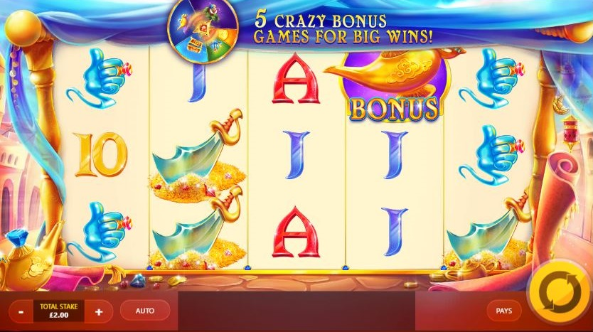 Crazy Genie UK online slot game