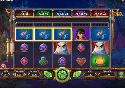 Ozwin's Jackpots UK slot game